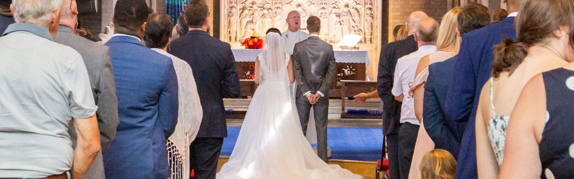 A wedding at Church of the Good Shepherd